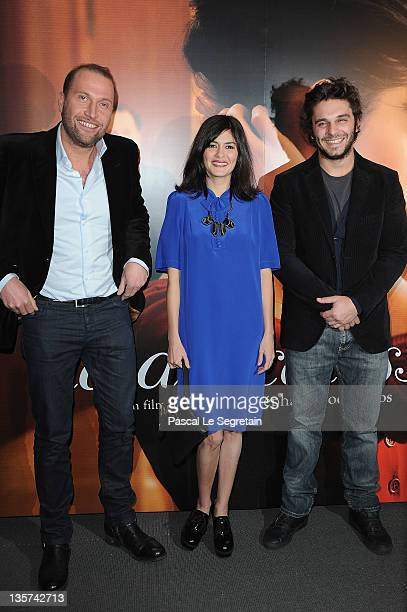 Francois Damiens and Audrey Tautou and Pio Marmai attend 'La Delicatesse' Paris Premiere on December 13 2011 in Paris France