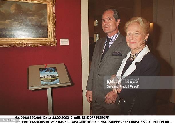Francois De Montmort Gislaine De Polignac party at Christie's collection of the Marquis de Bath Avenue Matignon Paris
