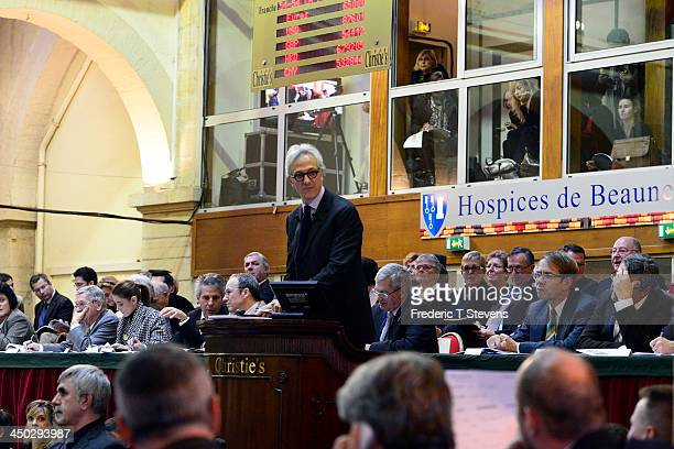 Francois de Ricgles auctioneer of Christie's during the 153rd Hospices de Beaune wine auction celebration on November 17 2013 in Beaune France