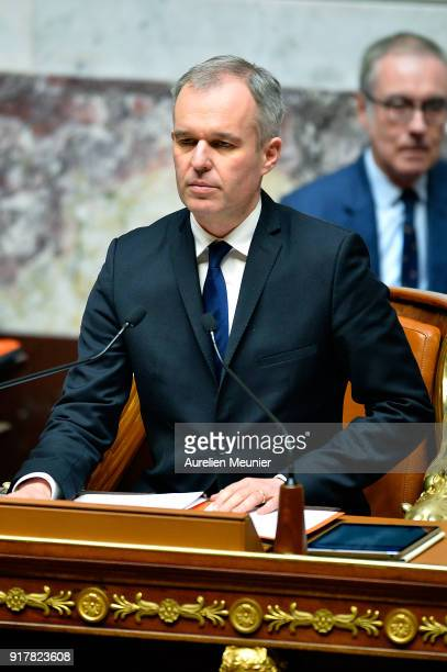 Francois de Rugy President of the National Assembly reacts as Ministers answer deputies questions during the weekly session of questions to the...