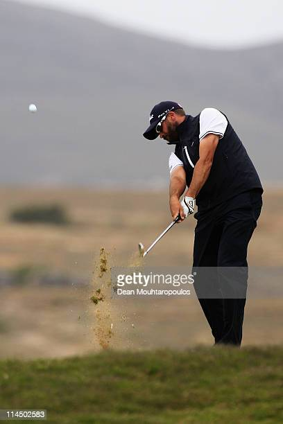 Francois Delamontagne of Fance hits his tee shot on the 15th hole during the final day of the Madeira Islands Open on May 22 2011 in Porto Santo...