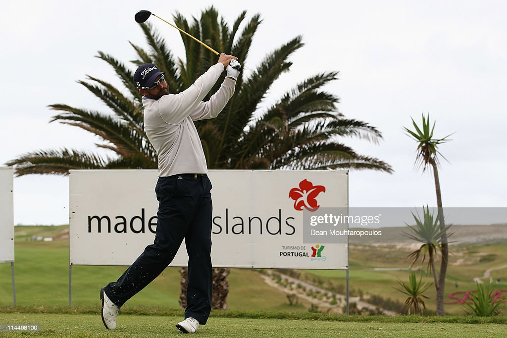 Francois Delamontagne of Fance hits his tee shot on the 1st hole during day two of the Madeira Islands Open on May 20, 2011 in Porto Santo Island, Portugal.