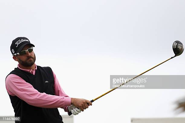 Francois Delamontagne of Fance hits his tee shot on the 1st hole during day three of the Madeira Islands Open on May 21 2011 in Porto Santo Island...