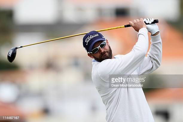 Francois Delamontagne of Fance hits his tee shot on the 3rd hole during day two of the Madeira Islands Open on May 20 2011 in Porto Santo Island...