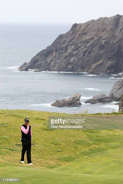 Francois Delamontagne of Fance looks on the 13th hole during day three of the Madeira Islands Open on May 21 2011 in Porto Santo Island Portugal