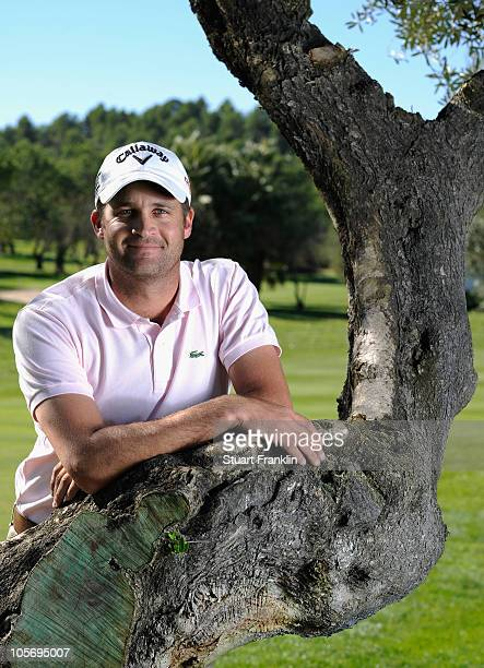 Francois Delamontagne of France poses for a photograph during previews for the Castello Masters Costa Azahar at the Club de Campo del Mediterraneo on...