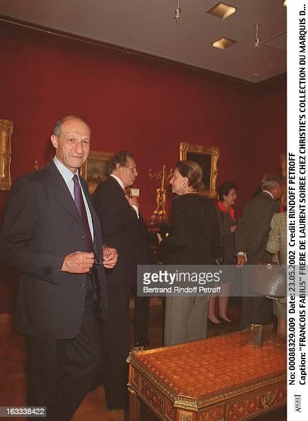 """Francois Fabius Laurent's brother party at Christie's collection of the """"Marquis de Bath"""" Avenue Matignon Paris."""