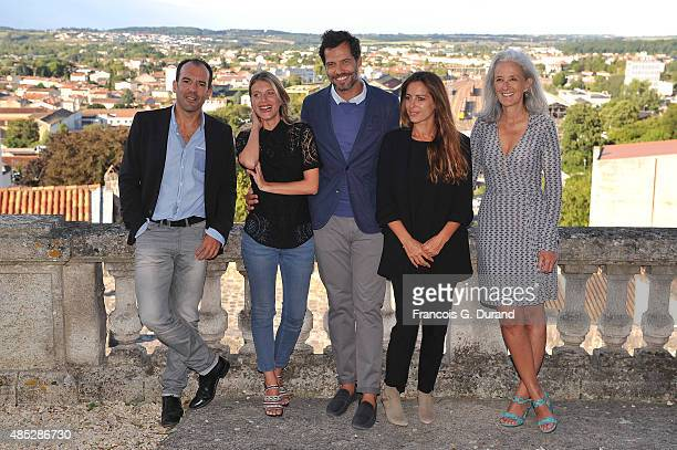 Francois Favrat Melanie Laurent Laurent Lafitte Audrey Dana and Tatiana de Rosnay pose at a photocall for the film 'Boomerang' during the 8th...