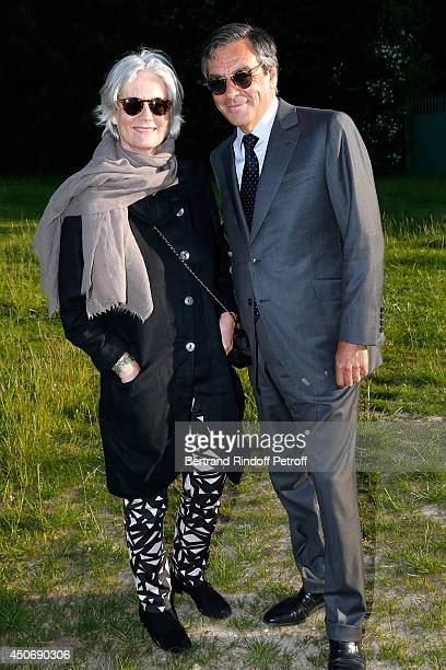 Francois Fillon and his wife Peneloppe attend the private tour and dinner of the Lee Ufan's Exhibition at Chateau de Versailles on June 15 2014 in...