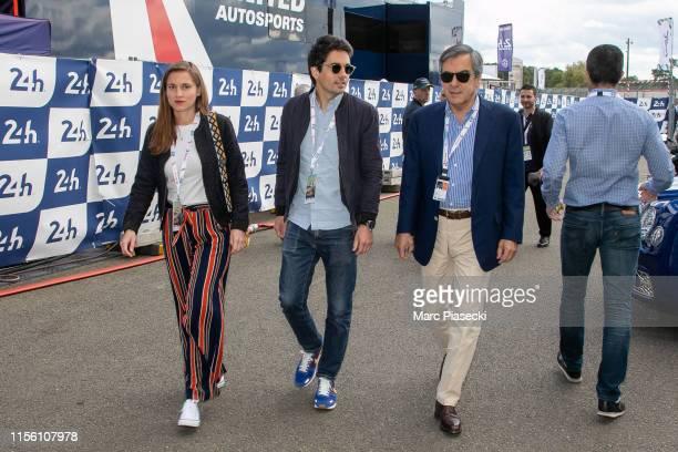 Francois Fillon attend the 24 Hours of Le Mans race on June 15, 2019 in Le Mans, France.