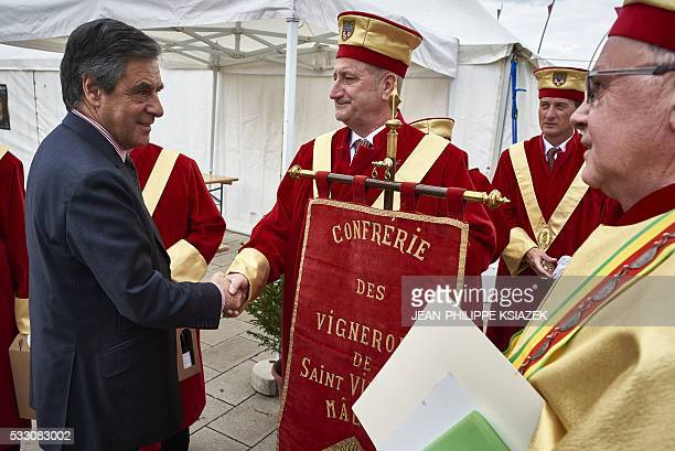Francois Fillon former French prime minister and candidate for the rightwing Les Republicains party primary ahead of the 2017 presidential election...
