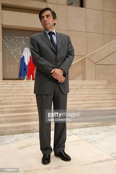 Francois Fillon inaugurates the statue in tribute to Olivier Guichard in Nantes France on June 29 2007Francois Fillon Prime Minister Francois Fillon...