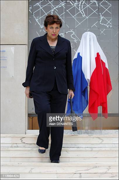 Francois Fillon inaugurates the statue in tribute to Olivier Guichard in Nantes France on June 29 2007Roselyne Bachelot Narquin minister of Health...