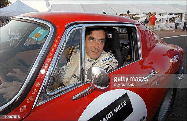 Francois Fillon participates for the first time in the historic race Le Mans Classic behind the steering wheel of Ferrari 275 GTB of 1966 The race is...