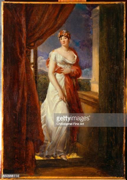 Francois Gerard Fulllength Portrait of Madame Tallien born Cabarrus Princess of CaramanChimay 1804 Oil on canvas 032 x 020 m Versailles Chateaux de...