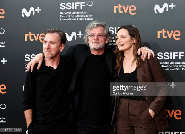 Francois Girard Catherine McCormack and Tim Roth attend the red carpet on the closure day of 67th San Sebastian International Film Festival on...