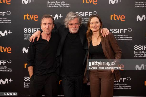 Francois Girard Catherine McCormack and Tim Roth attends the red carpet on the closure day of 67th San Sebastian International Film Festival on...