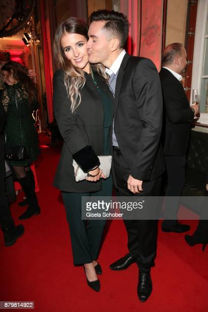 Francois Goeske and his girlfriend Carla Bellgardt during the New Faces Award Style 2017 at 'The Grand' hotel on November 15 2017 in Berlin Germany
