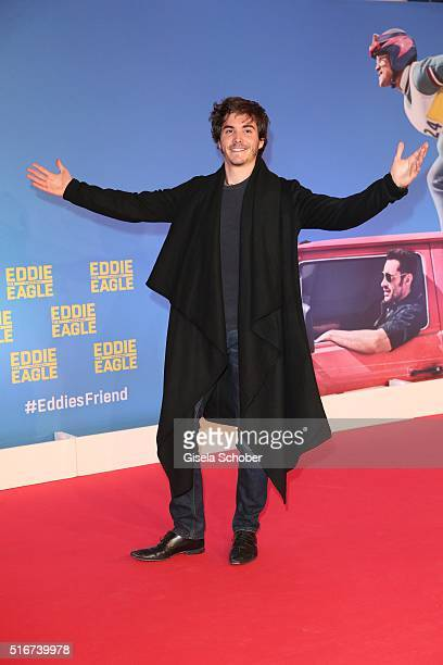 Francois Goeske during the 'Eddie the Eagle' premiere at Mathaeser Filmpalast on March 20 2016 in Munich Germany