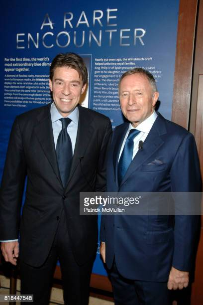 Francois Graff and Laurence Graff attend WITTELSBACHGRAFF DIAMOND Unveiling at Smithsonian National Museum of Natural History on January 28 2010 in...