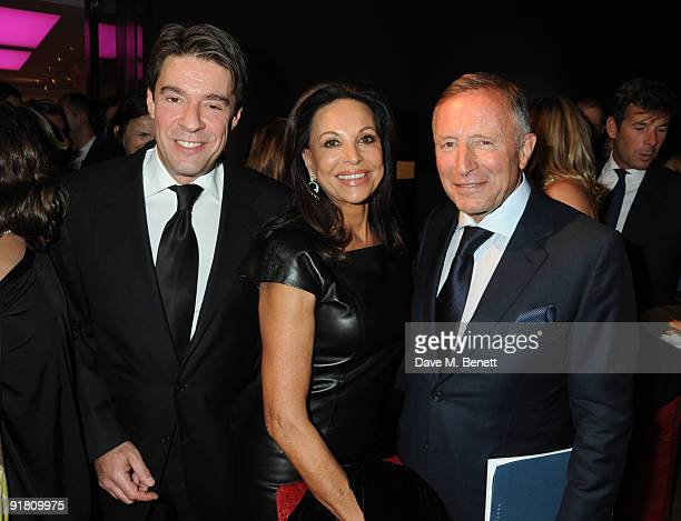 Francois Graff AnneMarie and Laurence Graff attends the Graff charity auction and reception in aid of FACET at Christie's on October 12 2009 in...