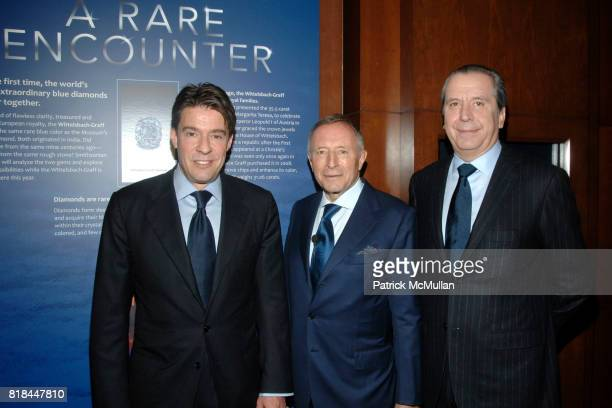 Francois Graff Laurence Graff and Henri Barguirdjian attend WITTELSBACHGRAFF DIAMOND Unveiling at Smithsonian National Museum of Natural History on...