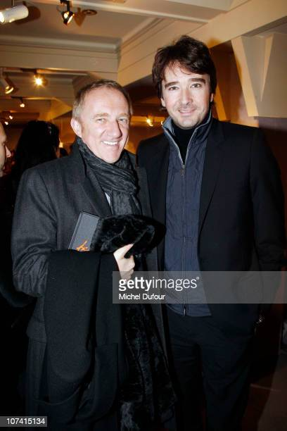 Francois Henri Pinault and Antoine Arnault attend the 'Frimousses de Createurs' Auction 2010 on December 7 2010 in Paris France