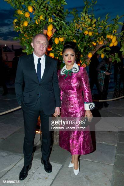 Francois Henri Pinault and Salma Hayek attend the Cini party during the 57th International Art Biennale on May 10 2017 in Venice Italy