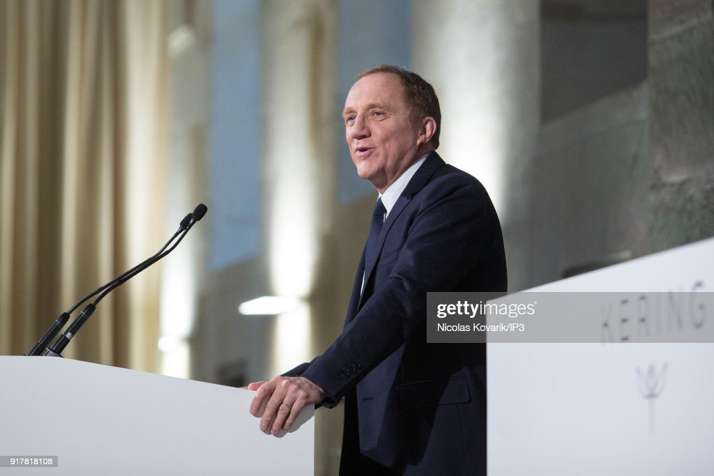 Francois Henri Pinault, CEO of Kering during a press conference to announce the company's annual results on February 13, 2018 in Paris, France. The French luxury group have seen a 25% rise in revenue in the fourth quarter thanks in part to strong sales growth at Gucci.