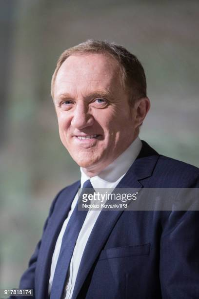 Francois Henri Pinault, CEO of Kering during a press conference to announce the company's annual results on February 13, 2018 in Paris, France. The...