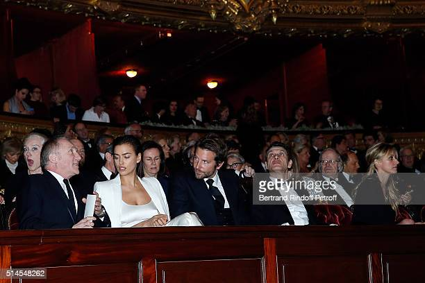 Francois Henri Pinault Irina Shayk Bradley Cooper Marc Lavoine and Sarah Lavoine attend the Arop Charity Gala At the Opera Garnier under the auspices...