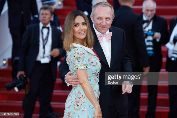 Francois Henri Pinault Salma Hayek attend the 70th Anniversary of the 70th annual Cannes Film Festival at Palais des Festivals on May 23 2017 in...
