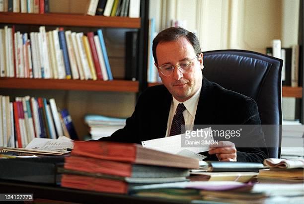 Francois Hollande first secretary of Sociatlist Party in his office In France On October 27 1997