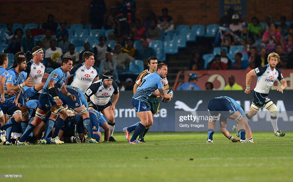 Francois Hougaard of the Bulls attacks during the Super Rugby match between Vodacom Bulls and Waratahs at Loftus Versveld on April 27, 2013 in Pretoria, South Africa.