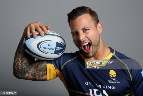 Francois Hougaard of Worcester Warriors poses for a portrait during the Worcester Warriors squad photo call for the 201819 Gallagher Premiership...