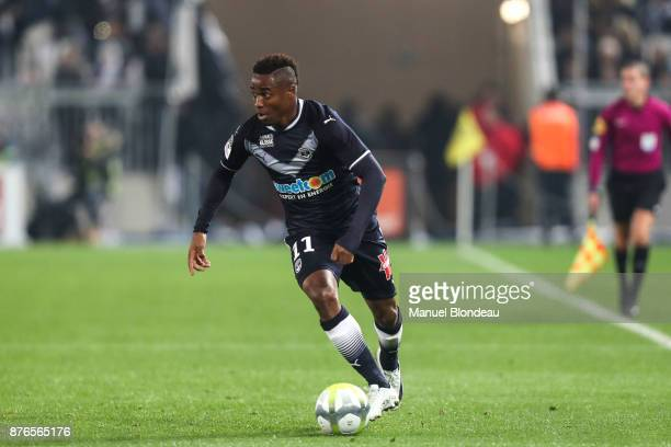 Francois Kamano of Bordeaux during the Ligue 1 match between FC Girondins de Bordeaux and Olympique Marseille at Stade Matmut Atlantique on November...