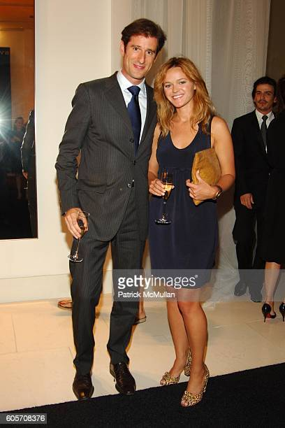 Francois Kress and Amanda Doll attend BVLGARI Pour Femme Launch at BVLGARI on July 26 2006 in New York City