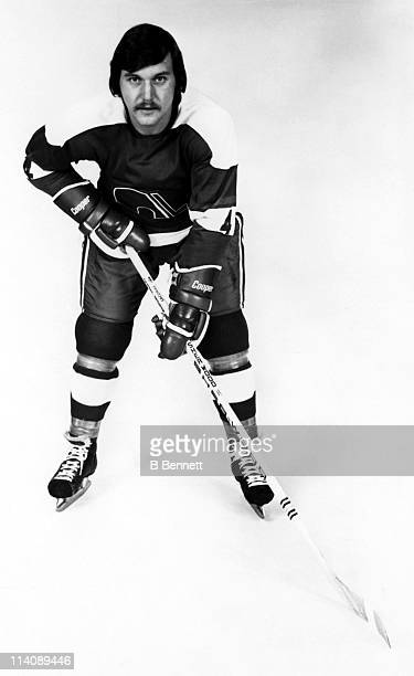 Francois Lacombe of the Quebec Nordiques poses for a portrait circa 1976 in Quebec City Quebec Canada