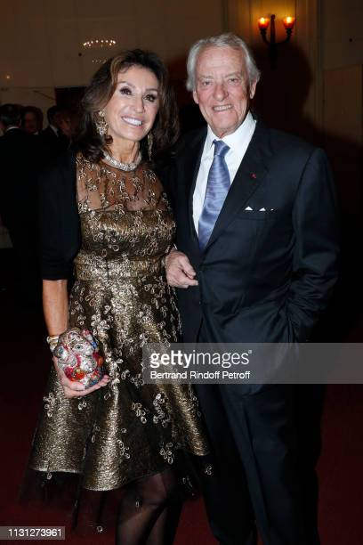 Francois Lafon and a guest attend the Fondation Prince Albert II De Monaco Evening at Salle Gaveau on February 21 2019 in Paris France
