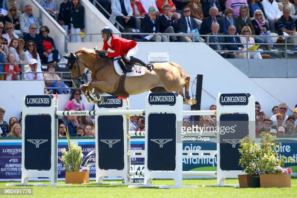 Francois LAMONTAGNE riding CHANEL DU CALVAIRE during the Longines FEI Jumping Coupe des Nations de France on May 20 2018 in La Baule France