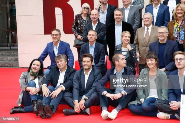 Francois Lenglet Alain Duhamel Nathalie Fellonneau Julien Courbet Thomas Hugues Sidonie Bonnec Laurent Ruquier Bixente Lizarazu and the Team of RTL...