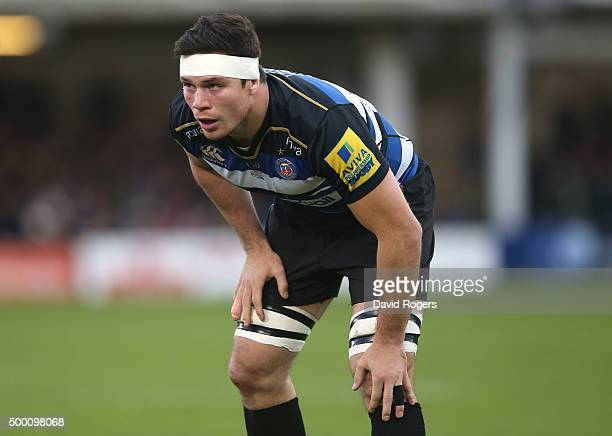Francois Louw of Bath looks on during the Aviva Premiership match between Bath and Northampton Saints at the Recreation Ground on December 5 2015 in...