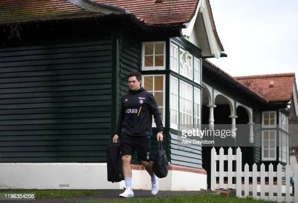 Francois Louw of Bath Rugby arrives prior to the Gallagher Premiership Rugby match between Bath Rugby and Sale Sharks at the Recreation Ground on...