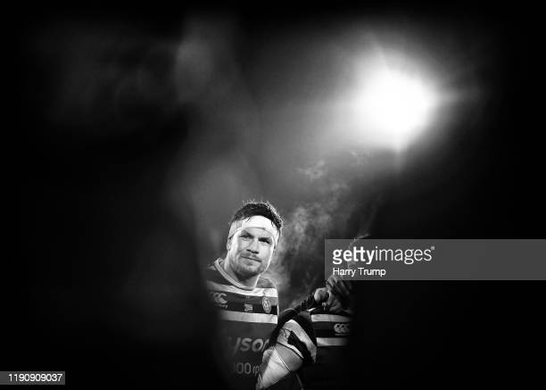 Francois Louw of Bath Rugby looks on during the Gallagher Premiership Rugby match between Bath Rugby and Saracens at The Recreation Ground on...