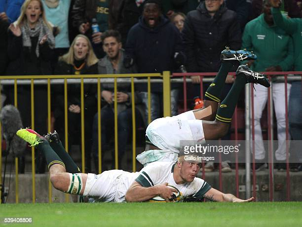 Francois Louw of South Africa during the 1st Castle Lager Incoming Series Test match between South Africa and Ireland at DHL Newlands Stadium on June...