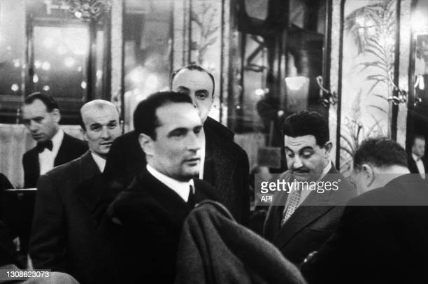 Francois Mitterrand At The Brasserie Lipp in Paris, Fifties.