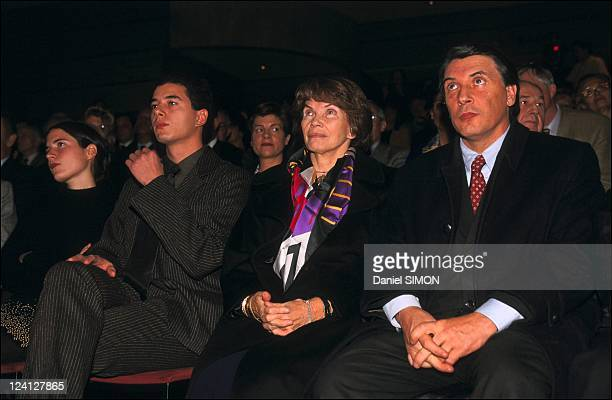 Francois Mitterrand ceremony for the 2nd anniversary of his death at the carrousel of Louvre In Paris France On January 07 1998 Mazarine Ali Daniele...