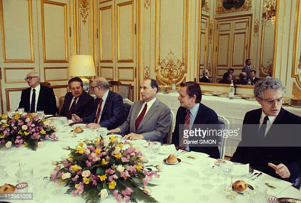 Francois Mitterrand with European Socialist Leaders In Paris France On May 19 1983French President Francois Mitterrand with European Socialist...
