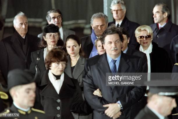 Francois Mitterrand's widow Danielle Mitterrand her son JeanChristophe Andre Rousselet Anne Pingeot French President Mitterrand's partner...