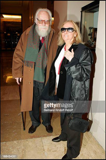 Francois Nourissier and his wife at 100th Episode Of 'Campus' Of Guillaume Durant At Le Cafe De L'Homme Restaurant At The Trocadero
